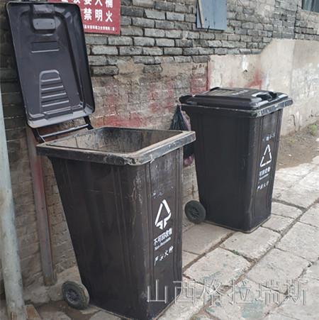240L热镀锌垃圾箱